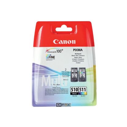 Picture of Canon PG-510 Black & CL-511 Colour Original Ink Cartridge Combo Pack