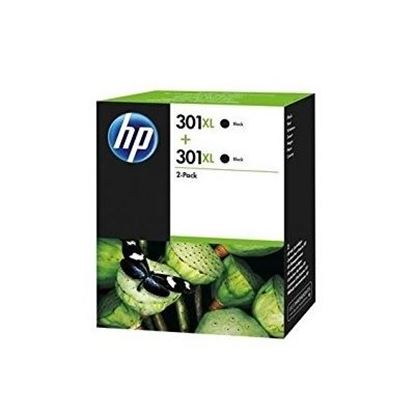 Picture of HP 301XL Black Original Ink Cartridge Twin Pack