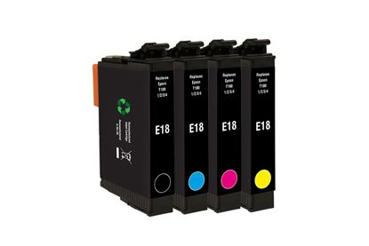 Picture of Jet Tec Recycled Epson T1806 Black, Cyan, Magenta, Yellow Ink Cartridge Multipack