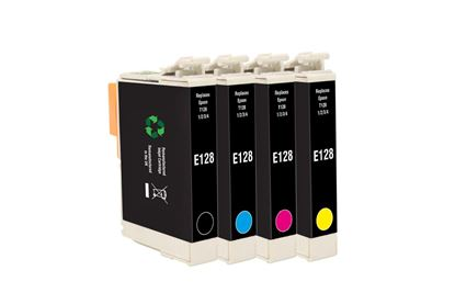 Picture of Jet Tec Recycled Epson T1285 Black, Cyan, Magenta, Yellow Ink Cartridge Multipack