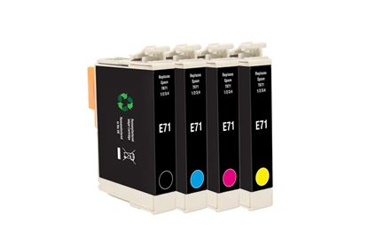 Picture of Jet Tec Recycled Epson T0715 Black, Cyan, Magenta, Yellow Ink Cartridge Multipack