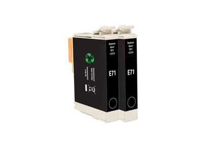 Picture of Jet Tec Recycled Epson T0711 Black Ink Cartridge Twin Pack