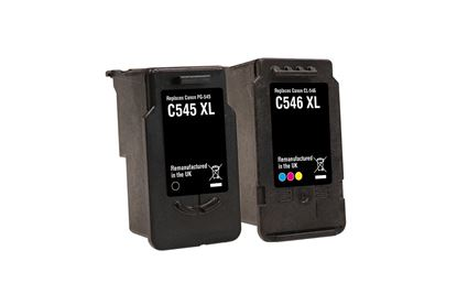 Picture of Jet Tec Recycled Canon PG-545XL Black & CL-546XL Colour Ink Cartridge Combo Pack