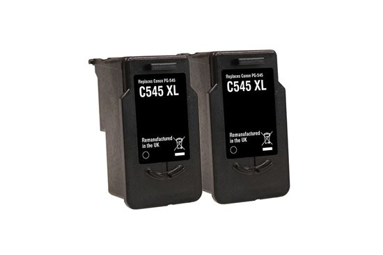 Picture of Jet Tec Recycled Canon PG-545XL Black Ink Cartridge Twin Pack