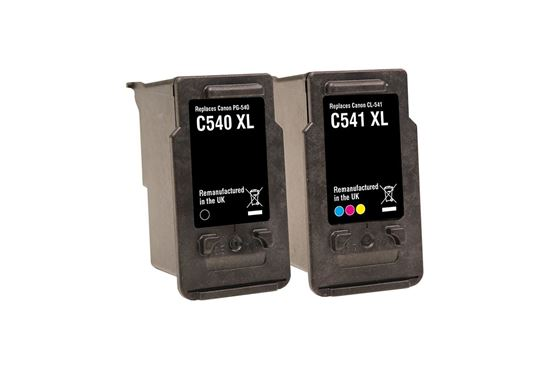 Picture of Jet Tec Recycled Canon PG-540XL Black & CL-541XL Colour Ink Cartridge Combo Pack