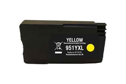 Picture of Jet Tec Recycled HP 951XL High Yield Yellow (CN048AE) Ink Cartridge