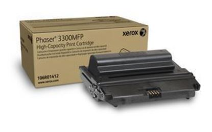 Picture of Xerox 106R01412 High Yield Black Original Toner Cartridge (3300MFP Laser Toner)