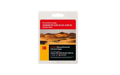 Picture of Kodak Replacement Canon PG-545XL Black & CL-546XL Colour Ink Cartridge Combo Pack