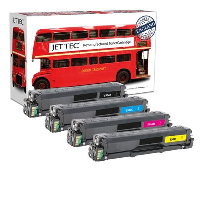 Picture of Jet Tec Recycled Samsung CLT-504S Black, Cyan, Magenta, Yellow Toner Cartridge Multipack