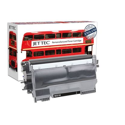 Picture of Jet Tec Recycled Brother TN-2210 Black Toner Cartridge