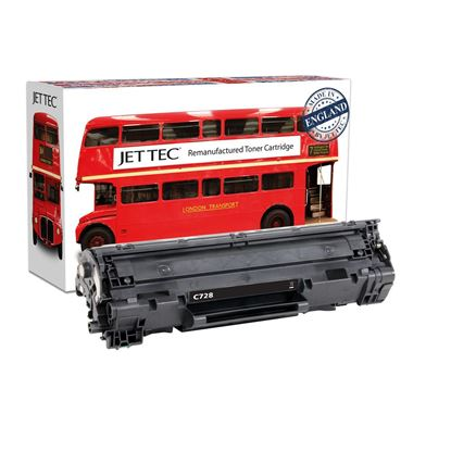 Picture of Jet Tec Recycled Canon CRG-728 Black Toner Cartridge