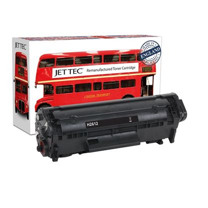 Picture of Jet Tec Recycled HP 12A Black (Q2612A) Toner Cartridge