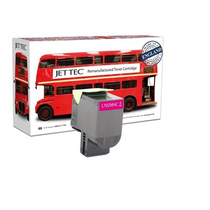 Picture of Jet Tec Recycled Lexmark 70C2HM0 High Yield Magenta (702HM) Toner Cartridge