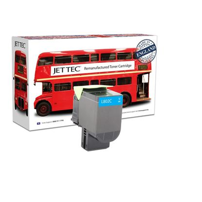 Picture of Jet Tec Recycled Lexmark 80C20C0 Cyan (802C) Toner Cartridge