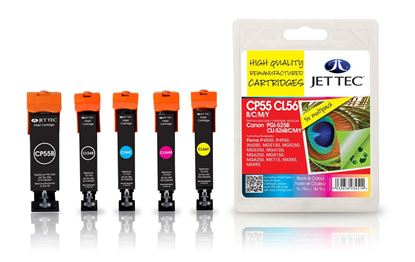 Picture of Jet Tec Recycled Canon PGI-525/CLI-526 Black, Cyan, Magenta, Yellow Ink Cartridge Multipack