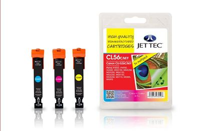 Picture of Jet Tec Recycled Canon CLI-526 Cyan, Magenta, Yellow Ink Cartridge Multipack