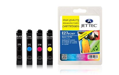 Picture of Jet Tec Recycled Epson T2706 Black, Cyan, Magenta, Yellow Ink Cartridge Multipack