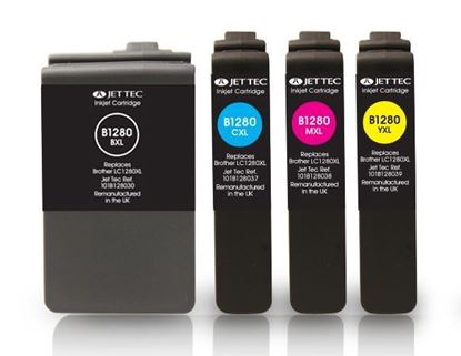 Picture of Jet Tec Recycled Brother LC1280XL Ink Cartridge Multipack