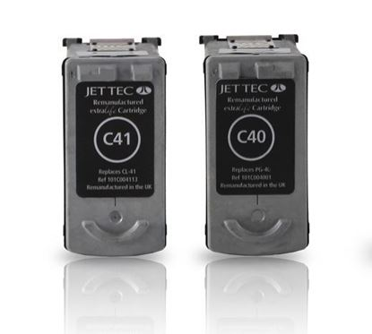 Picture of Jet Tec Recycled Canon PG-40 Black & CL-41 Colour Ink Cartridge Combo Pack