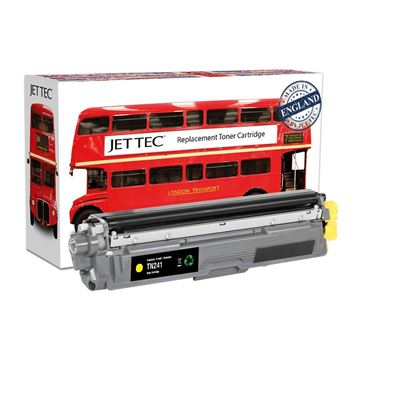 Picture of Jet Tec Recycled Brother TN-241Y Yellow Toner Cartridge