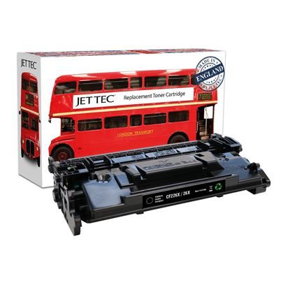 Picture of Jet Tec Recycled HP 26X High Yield Black (CF226X) Toner Cartridge
